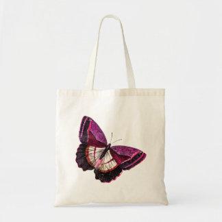 Plantilla en blanco de la mariposa 1896 rosados bolsa tela barata