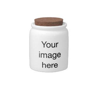 Plantilla en blanco de modelo de encargo de jarra para caramelo