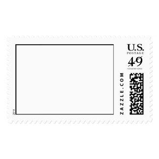Plantilla en blanco del franqueo timbres postales