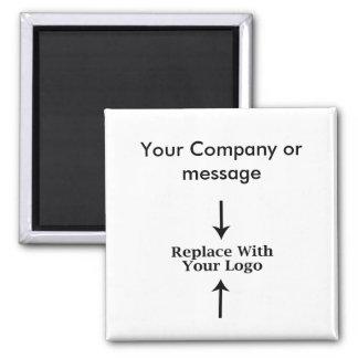 Plantilla en blanco del logotipo del negocio imán cuadrado