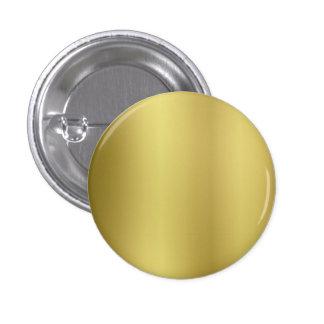 Plantilla en blanco del oro pin redondo 2,5 cm