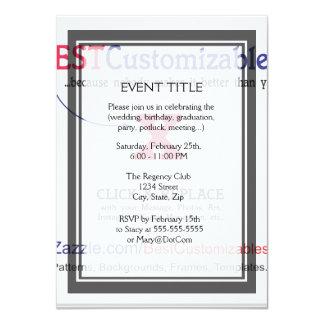 Plantilla en blanco rápida y fácil invitación 11,4 x 15,8 cm