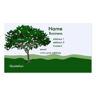 Plantilla encantada de la tarjeta de visita del ár