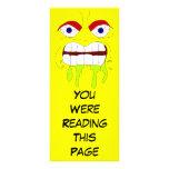 Plantilla enojada enojada de la señal de la cara tarjeta publicitaria personalizada