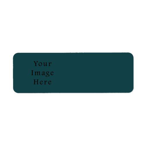 Plantilla esmeralda profunda del espacio en blanco etiqueta de remite