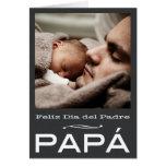 Plantilla española de la tarjeta del día de padre