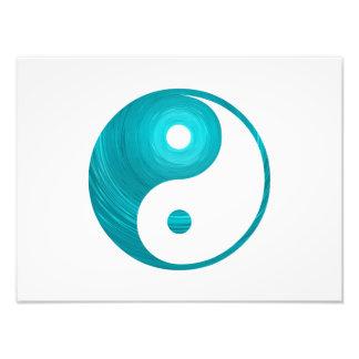 Plantilla espiral Yin-Yang de la aguamarina azul Fotografía