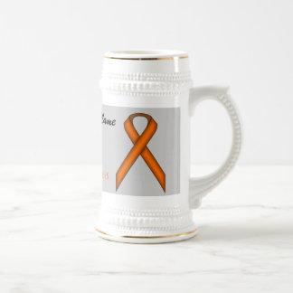 Plantilla estándar anaranjada Stein de la cinta Jarra De Cerveza