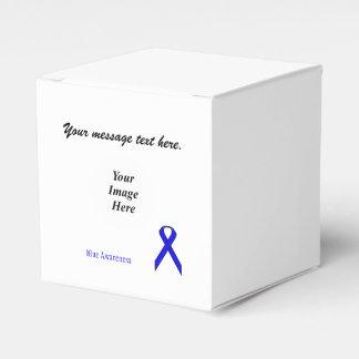 Plantilla estándar azul de la cinta caja para regalos