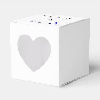 Plantilla estándar azul de la cinta cajas para regalos
