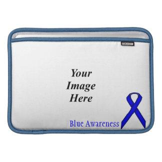 Plantilla estándar azul de la cinta funda para macbook air
