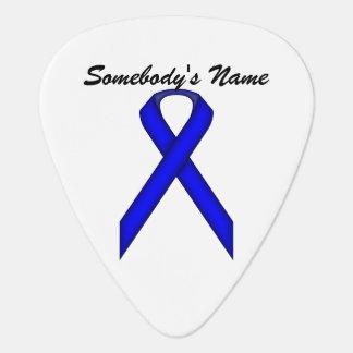 Plantilla estándar azul de la cinta púa de guitarra