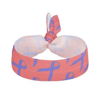 Plantilla estándar azul de la cinta gomas de pelo
