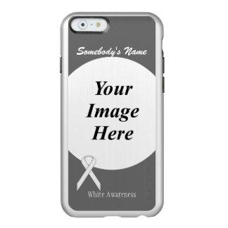 Plantilla estándar blanca de la cinta funda para iPhone 6 plus incipio feather shine