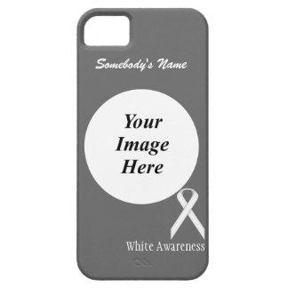 Plantilla estándar blanca de la cinta iPhone 5 funda