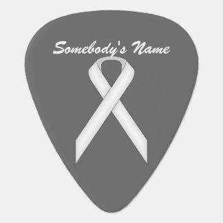 Plantilla estándar blanca de la cinta plumilla de guitarra