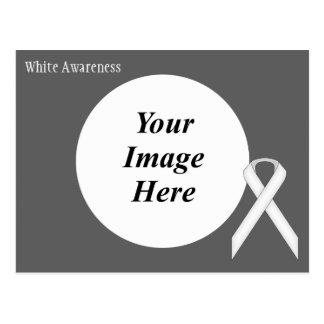 Plantilla estándar blanca de la cinta postales