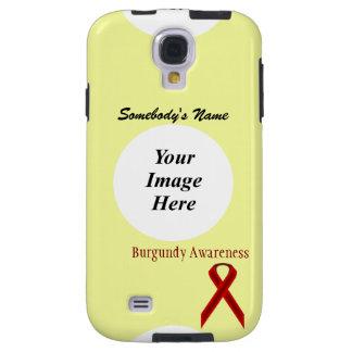 Plantilla estándar de la cinta de Borgoña Funda Para Galaxy S4