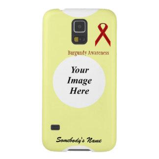 Plantilla estándar de la cinta de Borgoña Fundas Para Galaxy S5