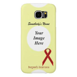 Plantilla estándar de la cinta de Borgoña Fundas Samsung Galaxy S6