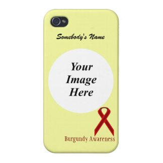 Plantilla estándar de la cinta de Borgoña iPhone 4 Carcasas