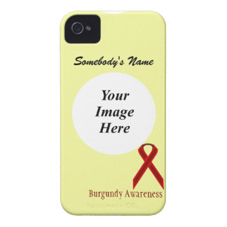 Plantilla estándar de la cinta de Borgoña iPhone 4 Case-Mate Coberturas