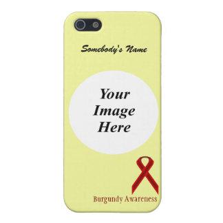 Plantilla estándar de la cinta de Borgoña iPhone 5 Funda