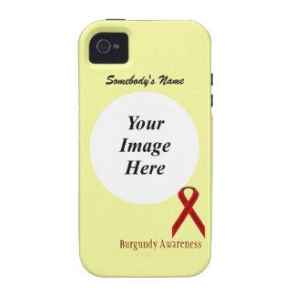 Plantilla estándar de la cinta de Borgoña Vibe iPhone 4 Funda