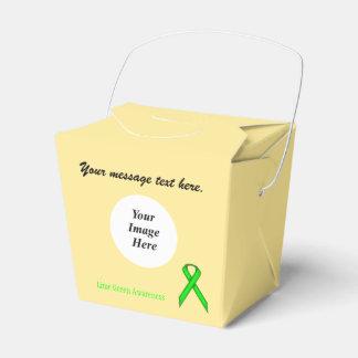 Plantilla estándar de la cinta de la verde lima cajas para regalos de fiestas
