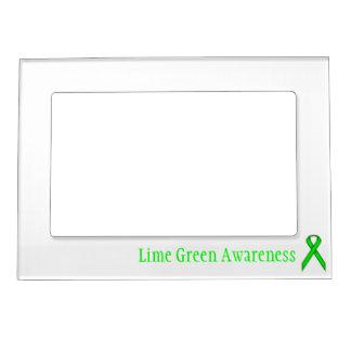Plantilla estándar de la cinta de la verde lima marcos magnéticos para fotos