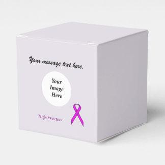 Plantilla estándar púrpura de la cinta caja para regalo de boda