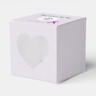 Plantilla estándar púrpura de la cinta caja para regalos