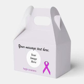 Plantilla estándar púrpura de la cinta cajas para regalos