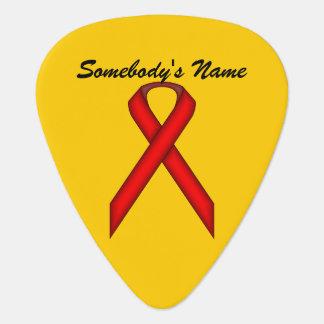Plantilla estándar roja de la cinta púa de guitarra