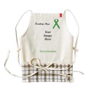 Plantilla estándar verde de la cinta delantal zazzle HEART