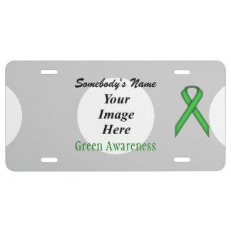Plantilla estándar verde de la cinta