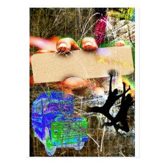 Plantilla estupenda del Grunge Postal