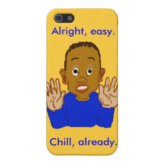 Plantilla fácil aceptable del niño bien iPhone 5 carcasas