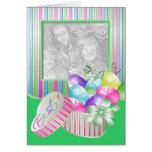 Plantilla feliz de la foto de Pascua Tarjeta