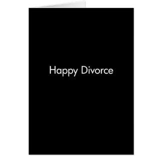 Plantilla feliz del divorcio tarjeta de felicitación