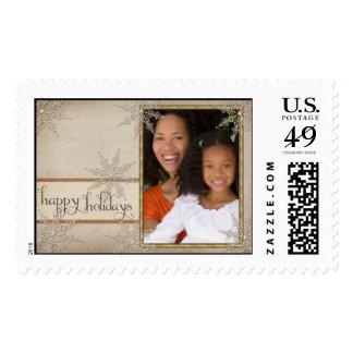 Plantilla feliz pasada de moda del sello de USPS