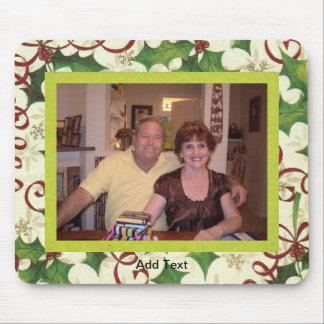 Plantilla festiva de la foto del navidad tapete de raton