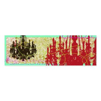 Plantilla flaca de la lámpara tarjetas de negocios