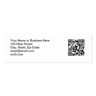 Plantilla flaca de la tarjeta de visita del código
