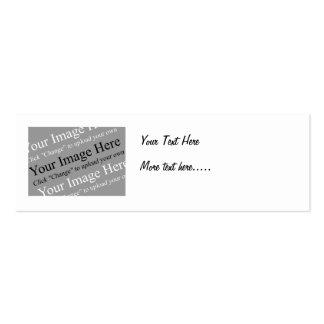 Plantilla flaca de la tarjeta del perfil del texto tarjetas de visita mini