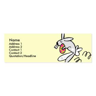 Plantilla flaca del perfil - conejito de pascua tarjetas de visita mini