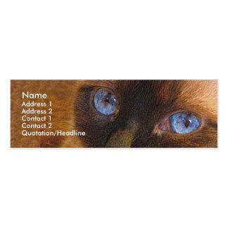 Plantilla flaca - gato siamés tarjetas de visita mini