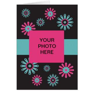Plantilla floral 01 del sorbete - tarjeta de la fo