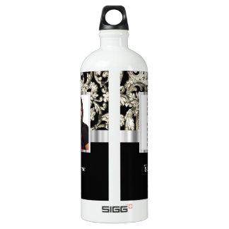 plantilla floral blanco y negro de la foto