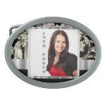 plantilla floral blanco y negro de la foto hebillas cinturón ovales